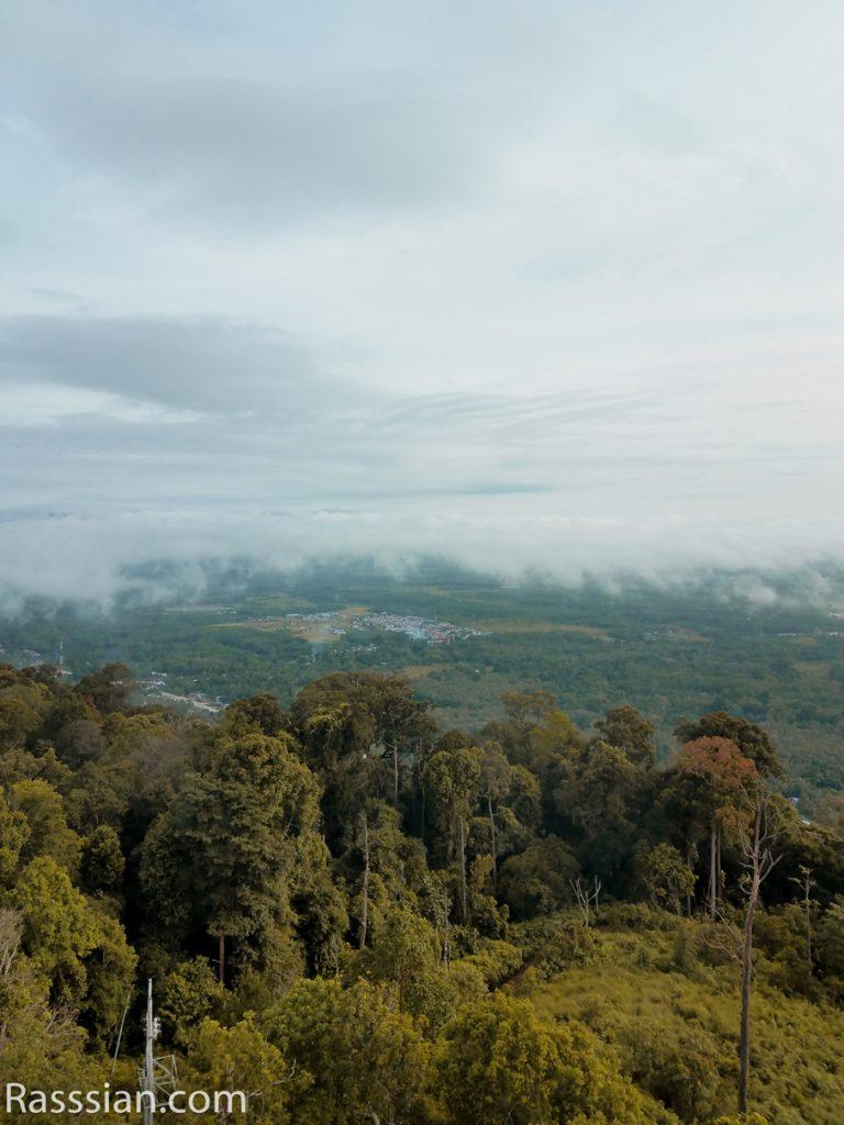 Menikmati Suasana Pagi di Bukit Gunung Medan Dharmasraya